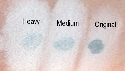 foundation coverage swatches